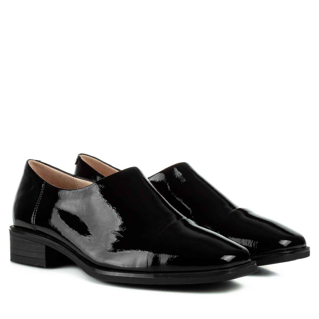 Туфли женские Geronea(лаконичный модный дизайн, натуральная лакированная кожа, удобная колодка)