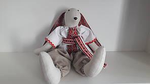Зайка БОГДАН Vikamade льняная игрушка