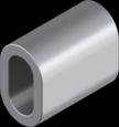 Затискач DIN 3093, 1мм, алюміній