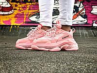 Кроссовки женские розовые Balenciaga Triple S. , фото 1