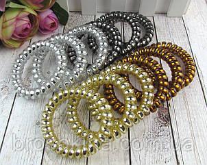 Гумки для волосся пружинки (спіральки) d 5,5 см 4 кольори 20 шт/уп.