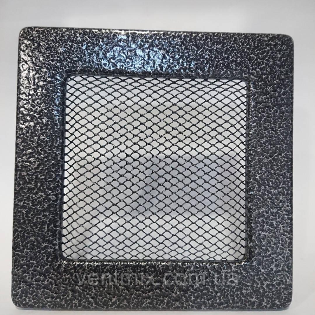 Решетка вентиляционная каминная 90 х 225 мм антик серебро