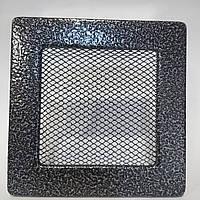 Решетка вентиляционная каминная 90 х 225 мм антик серебро, фото 1
