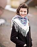 Март 904-4, павлопосадский платок шерстяной (двуниточная шерсть) с шелковой бахромой, фото 8