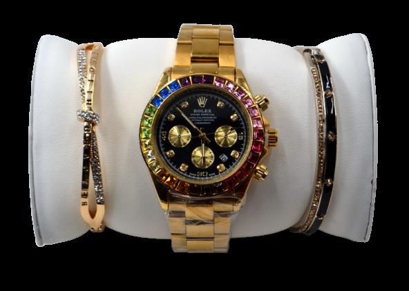 Часы Золото-чёрные 1