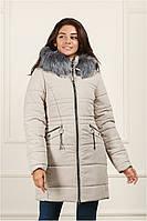 Зимняя модная женская куртка (44-50) с капюшоном, доставка по Украине