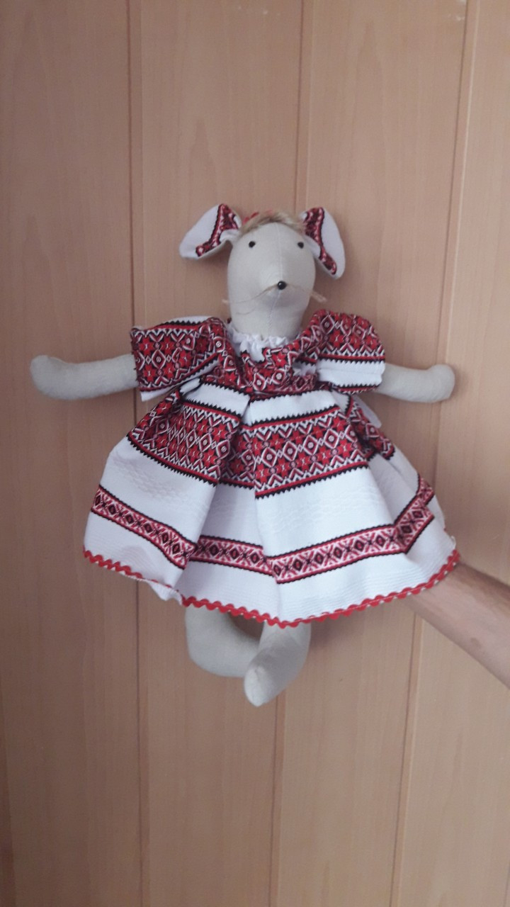 Мышка Марийка  Vikamade игрушка лен.