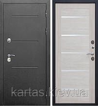 Входная дверь Isoterma 125мм 860х2050, Серебро/Лиственница беж Царга
