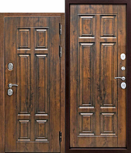 Входная дверь Isoterma 130мм  Vinorit Грецкий орех Патина 960х2050