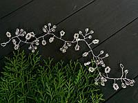 Свадебная тика с чешским стеклом 35 см
