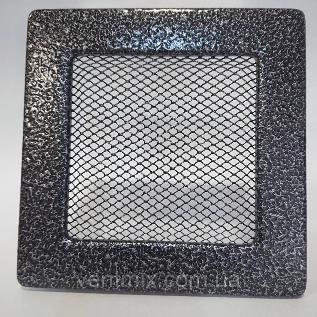 Решітка вентиляційна камінна 150 х 280 мм антик срібло