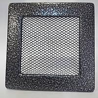 Решітка вентиляційна камінна 150 х 280 мм антик срібло, фото 1