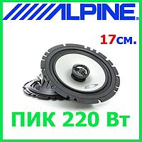 Акустика для авто Alpine SXE-1725S (Авт. гучномовець, 2-пол. коакс, 17см, 220 Вт пік/40Вт ном.), фото 1