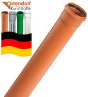 Труба для канализации OSTENDORF 160 мм  х  4 мм х 1 м SN 4 наружная канализация  поливинилхлорид (Германия)