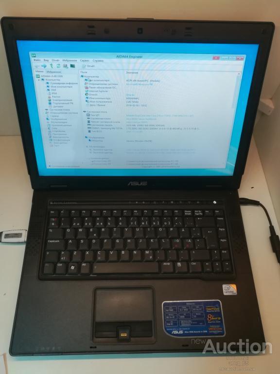 Ноутбук, notebook, ASUS B50A, 2 ядра по 2,0 ГГц, 2 Гб ОЗУ, HDD 80 Гб