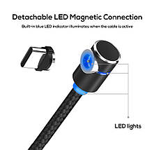 Магнитный кабель USB Type-C Topk для зарядки телефона (Черный, 1м), фото 3