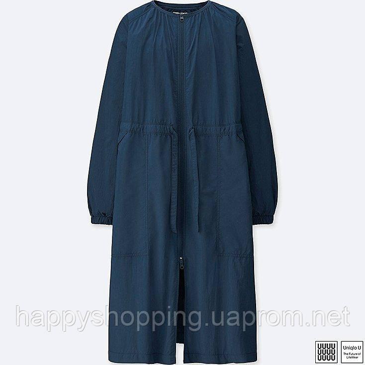 Женский темно-синий дождевик Uniqlo