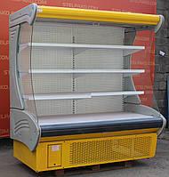 Холодильная горка (регал) «Технохолод Индиана» 2.0 м. (Украина), LED - подсветка, Б/у, фото 1