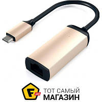Сетевая карта Ethernet Satechi Type-C to Ethernet Adapter Gold (ST-TCENG)