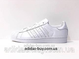 Кроссовки кеды adidas оригинал SUPERSTAR AQ1214 женские повседневные из кожи цвет:белый