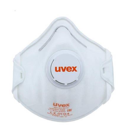 """Респиратор с клапаном """"Uvex 2210"""" N95 FFP2, фото 2"""