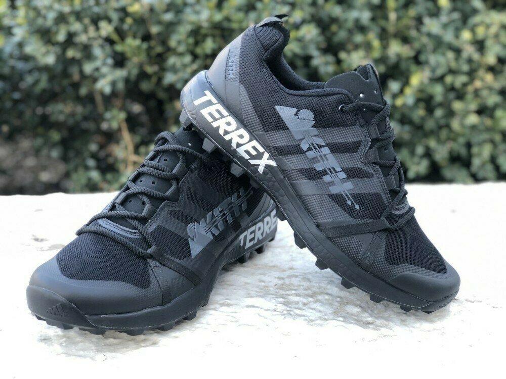Мужские Кроссовки Adidas TERREX KITH 2020  ALL BLACK Черные