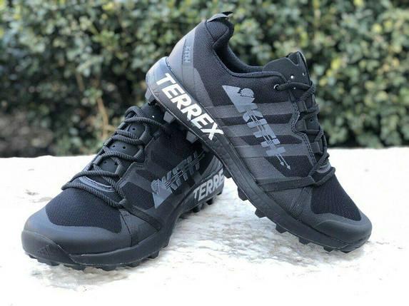 Мужские Кроссовки Adidas TERREX KITH 2020  ALL BLACK Черные, фото 2