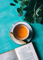 "Фото открытка ""Книга и чай"""