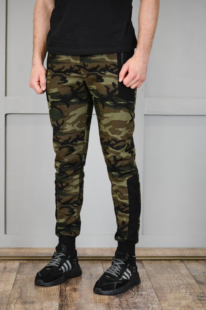 Мужские спортивные штаны из коттона и трикотажа, камуфляжные