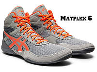 БОРЦОВКИ ДЕТСКИЕ ASICS MATFLEX 6 GS STONE GREY/FLASH CORAL 1084A007-020