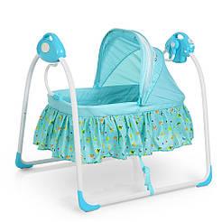 Кроватка 80308-4 голубой BAMBI