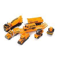 Детский набор машинок спецтранспорта ( строительная техника ) ( бетономешалка, погрузчик ) для мальчика
