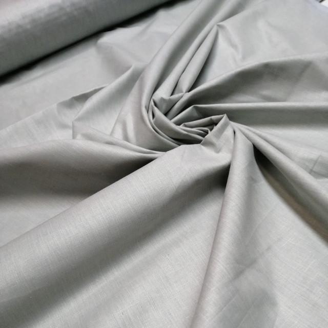 тканина бязь преміум світло сірий для постільної білизни та домашнього текстилю