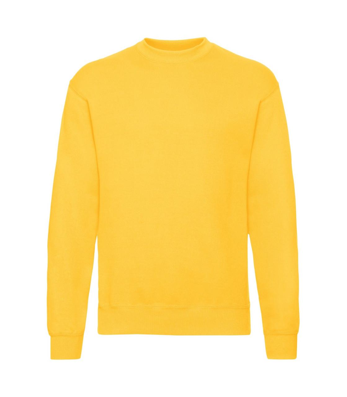 Мужской свитер-реглан желтый 202-34