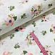 Ткань поплин анемоны розовые на белом (ТУРЦИЯ шир. 2,4 м) №32-252 ОТРЕЗ(0,37*2,4), фото 2