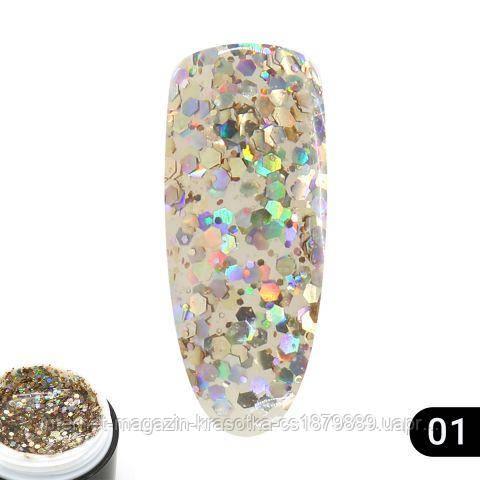 Glitter gel 01