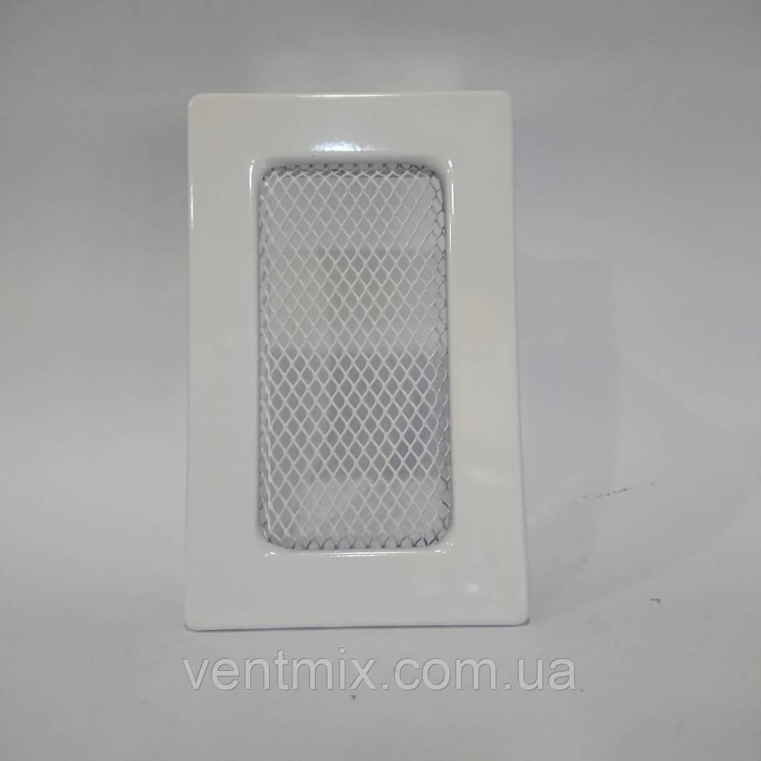 Решітка вентиляційна камінна 90х150 мм біла