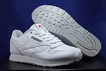 Білі чоловічі кросівки Reebok Classic White, шкіра