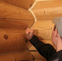 Покраска деревянных домов | Покраска сруба | Теплый шов | Герметизация