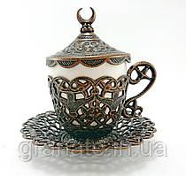 Турецкая чашка для кофе 110 мл, цвет: медь