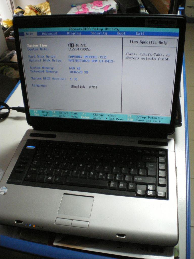 Ноутбук, notebook, Toshiba Satellite A100-773, 2 ядра по 2,0 ГГц, 2 Гб ОЗУ, HDD 80 Гб