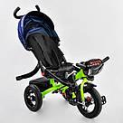 Трехколесный велосипед Best Trike с пультом и надувными колесами, синий с салатовым, фото 2