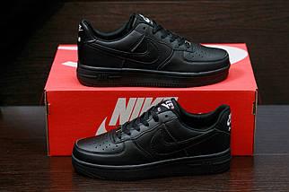 Мужские кроссовкиNike Air Force мужская обувь черные кроссовки найк, фото 2