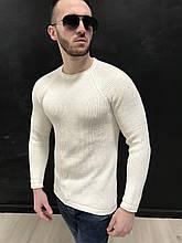 Свитер мужской белый 2YPREMIUM {S}