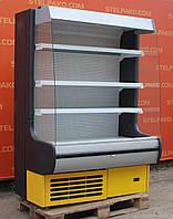 Холодильный регал «Росс Modena ВХТГ» 1.3 м. (Украина), прозрачные боковые стекла, Б/у, фото 1