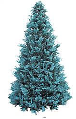 Елка уличная каркасная комбинированная Виктория макси голубая пластиковая ветка+пленка ПВХ