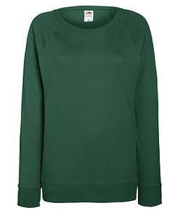 Женский свитшот XS, 38 Темно-Зеленый