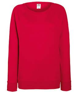 Женский свитшот XS, 40 Красный