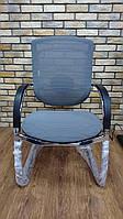 Marrit C-35E кресло для конференц залов на полозьях из хромированной стали от GTCHAIR, CL-02 серый