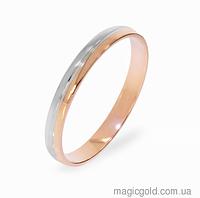 Золотые обручальные кольца с белым золотом